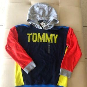 NWT Tommy Hilfiger boys color block hoodie